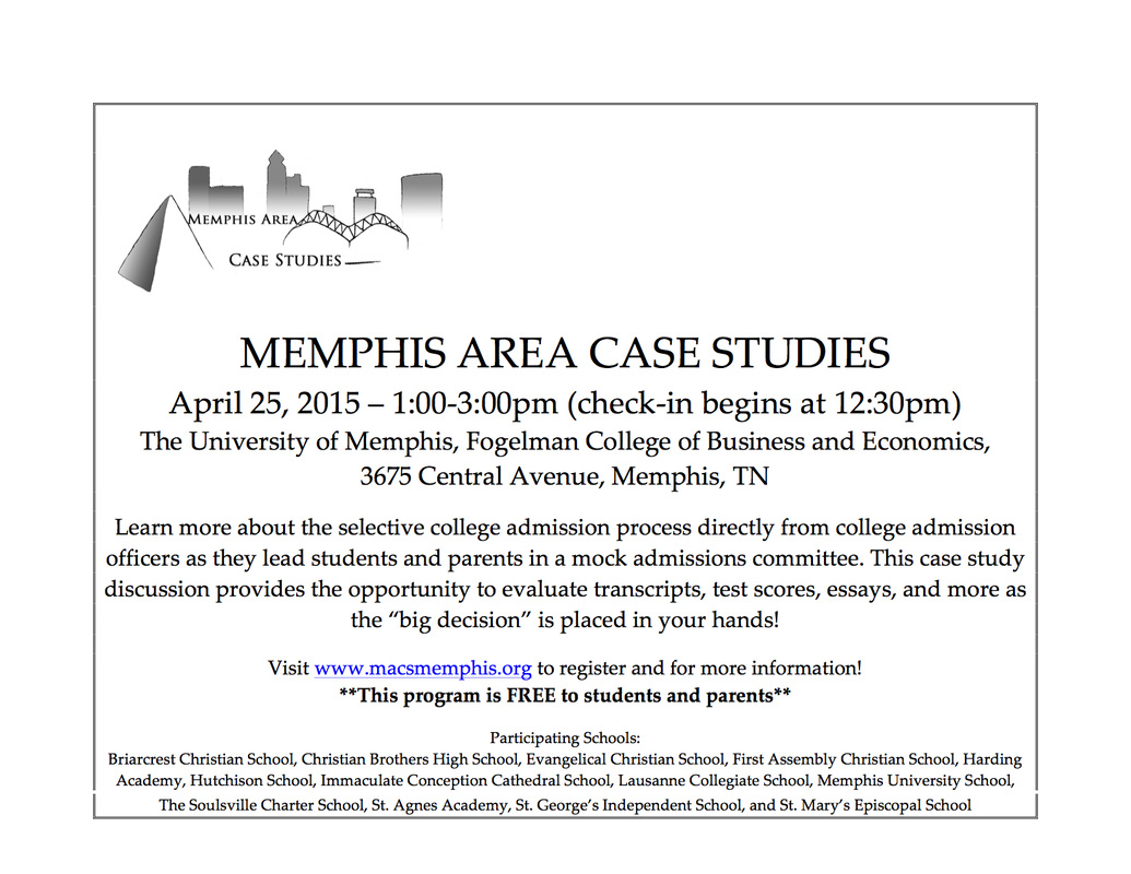 For sophomores, juniors, parents: Memphis Area Case Studies